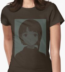 Lain ASCII - Inverted Womens Fitted T-Shirt