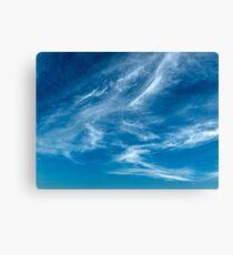Wispy White Cirrus Cloud. Photo Art, Prints, Gifts. Canvas Print