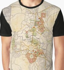 Map of Canberra 1927 Graphic T-Shirt