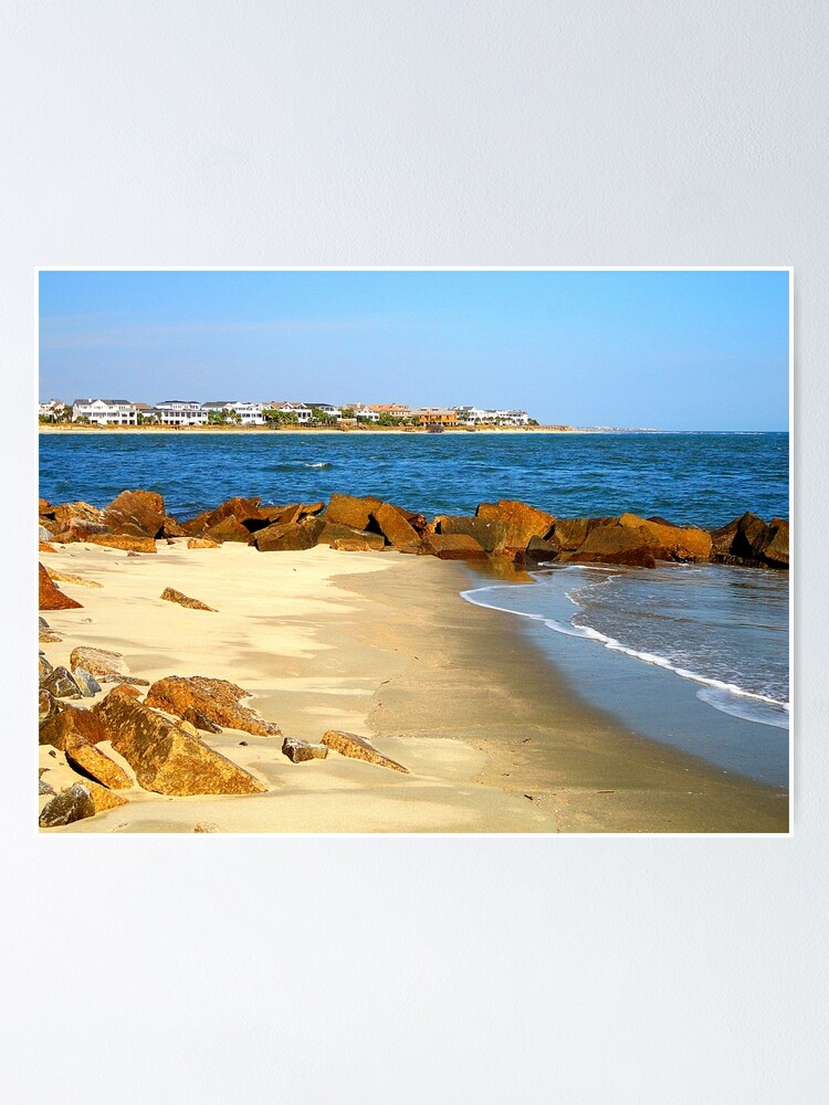 Rocky Beach By Jan Marvin Poster By Janmarvin Redbubble