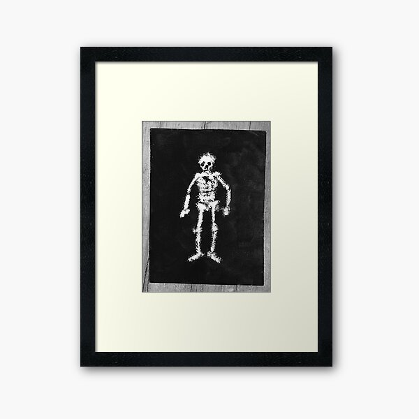 Fuzzy Skelly Painting Framed Art Print