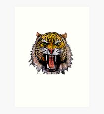 Tekken - Heihachi Tiger Art Print