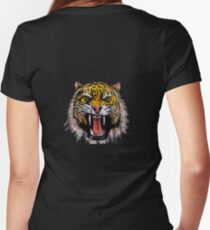 Tekken - Heihachi Tiger Women's Fitted V-Neck T-Shirt