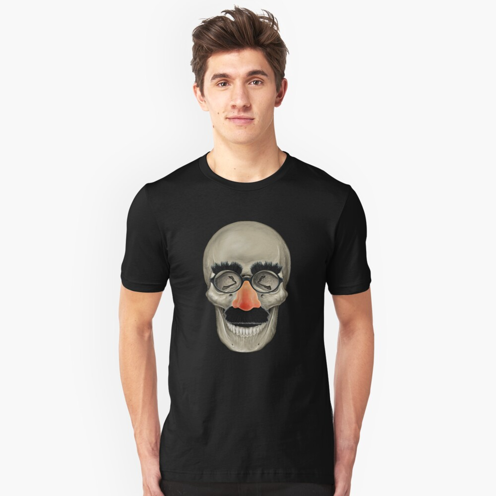 Died Laughing - Skull Slim Fit T-Shirt