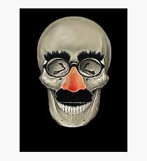 Died Laughing - Skull Photographic Print