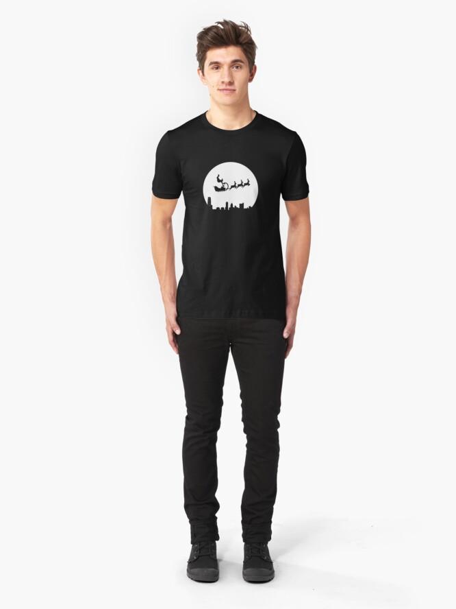 Alternate view of Stunt Santa Slim Fit T-Shirt