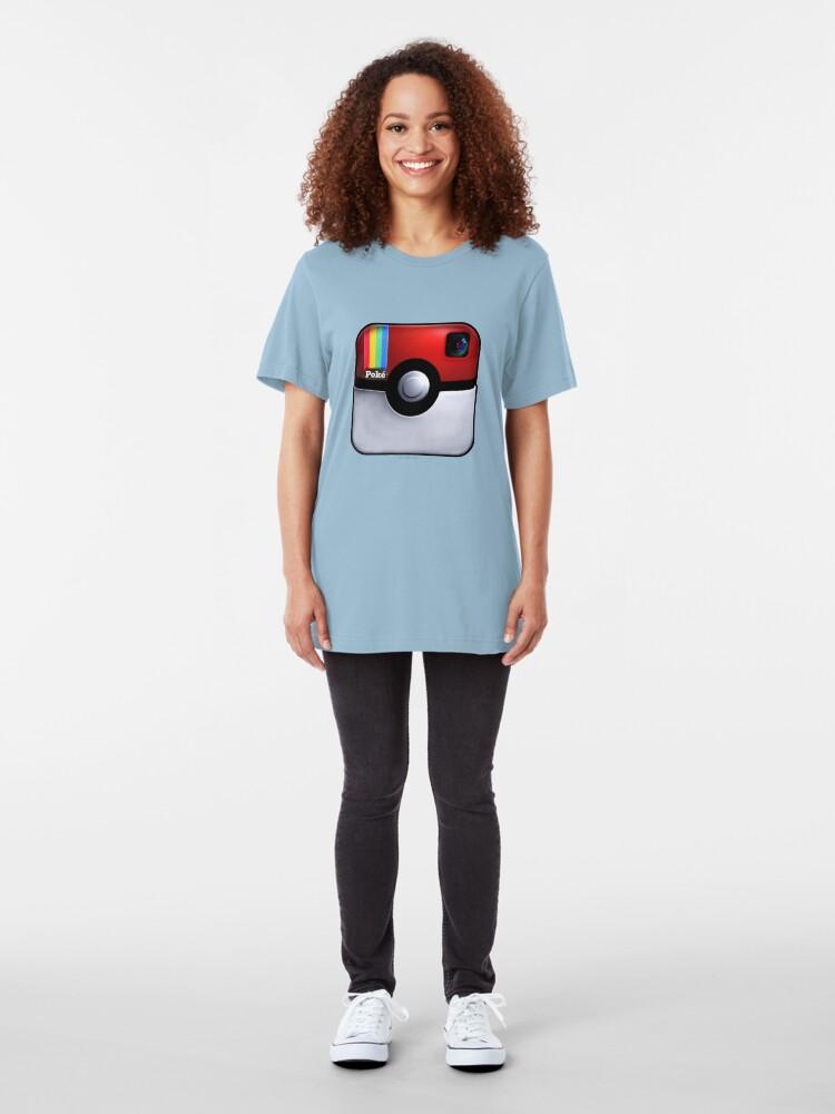 Alternate view of Pokegram - An Instagram & Pokemon Mash App Slim Fit T-Shirt