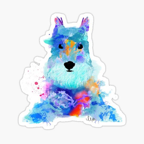schnauzer watercolor pet portrait | Amy Sticker