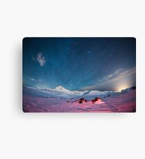 Starry Icelandic Night Sky  Canvas Print