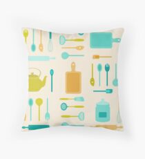 AFE Kitchen Utensils Throw Pillow