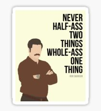 Ron Swanson Quote Sticker