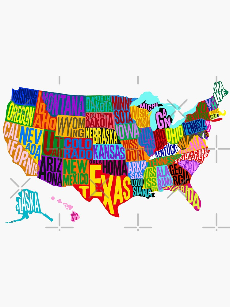 United States Color Word Cloud by Havocgirl