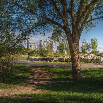 Mimico Park with a View of Humber Bay Shores by Jessticulate