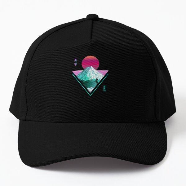 fuji vaporwave aesthetic Baseball Cap