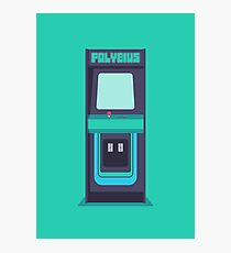 Polybius arcade game cabinet (Plain) Photographic Print