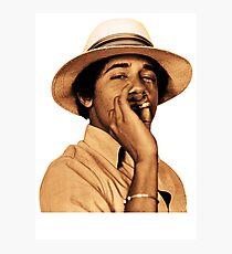 young obama smoke classic Photographic Print