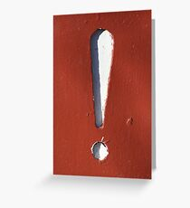 Exclamation Point Greeting Card