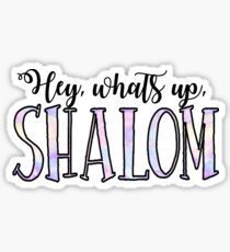 Hey whats up Shalom Sticker