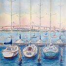 Ferguson Pier yachts by Virginia  Coghill