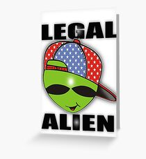 legal aliens green on the scene Greeting Card