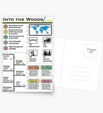 Into the Woods Infographic Postcards