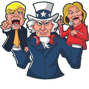 Trump Hillary Puppets by BuzzArtGraphics