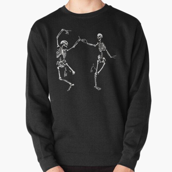 Dancing Skeletons Vintage Day of the Dead Halloween 2021 Pullover Sweatshirt