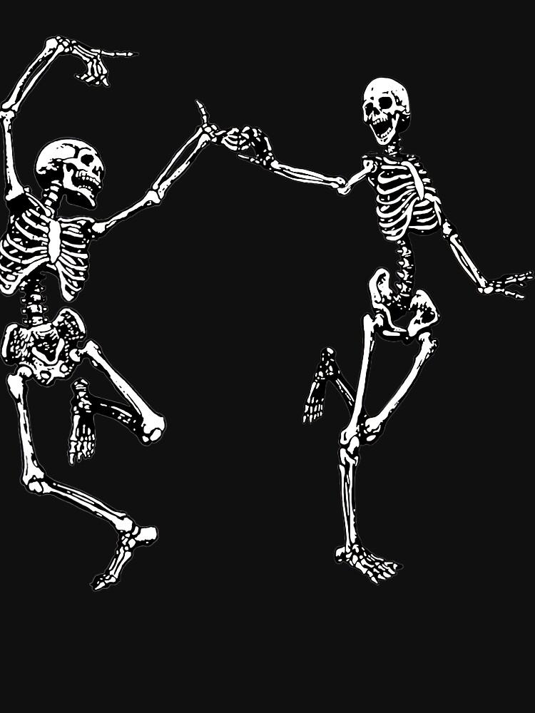 Dancing Skeletons Vintage Day of the Dead Halloween 2021 by helenselmah4