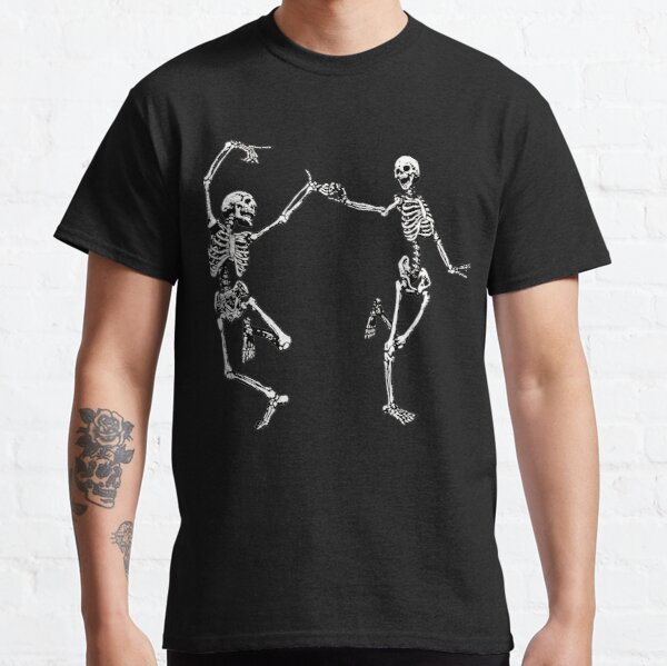 Dancing Skeletons Vintage Day of the Dead Halloween 2021 Classic T-Shirt
