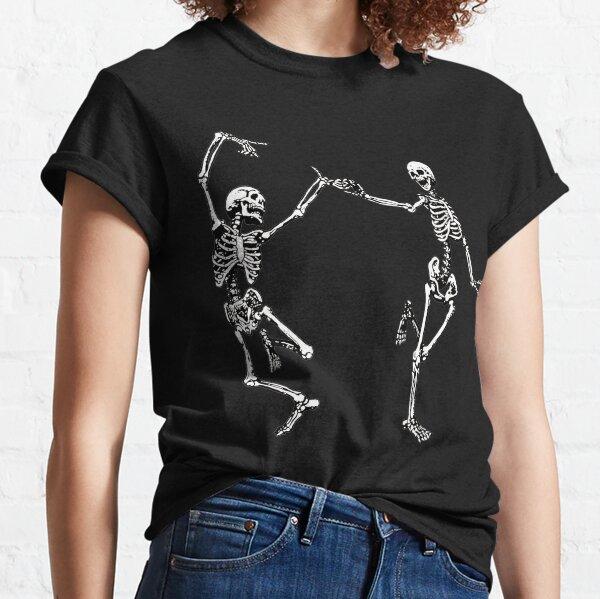 Tanzende Skelette Vintage Tag der Toten Halloween 2021 Classic T-Shirt