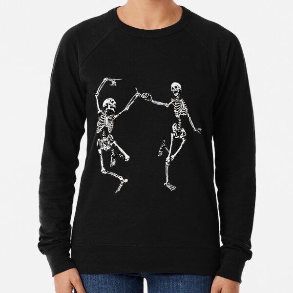Dancing Skeletons Vintage Day of the Dead Halloween 2021 Lightweight Sweatshirt