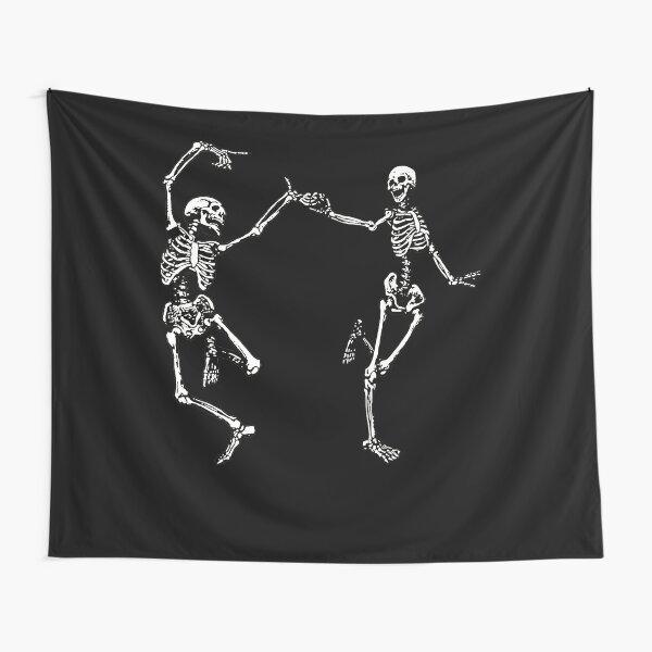 Dancing Skeletons Vintage Day of the Dead Halloween 2021 Tapestry