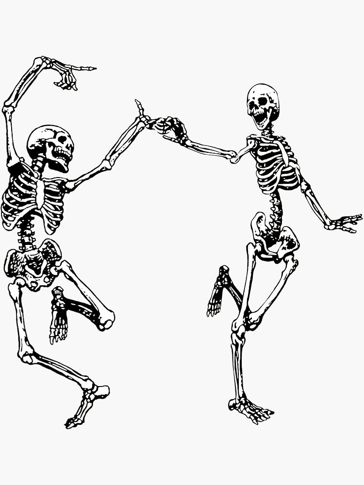 Tanzende Skelette Vintage Tag der Toten Halloween 2021 von helenselmah4
