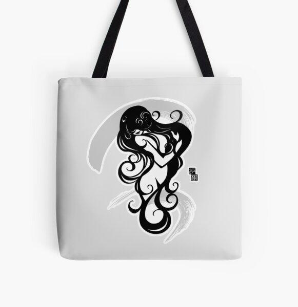 Water Fairy - asian beauty, spiritual, girl, zen All Over Print Tote Bag