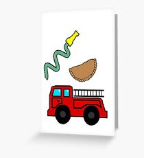 fireman empanada Greeting Card
