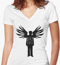BTS Wings J-Hope Boy Meets Evil Women's Fitted V-Neck T-Shirt