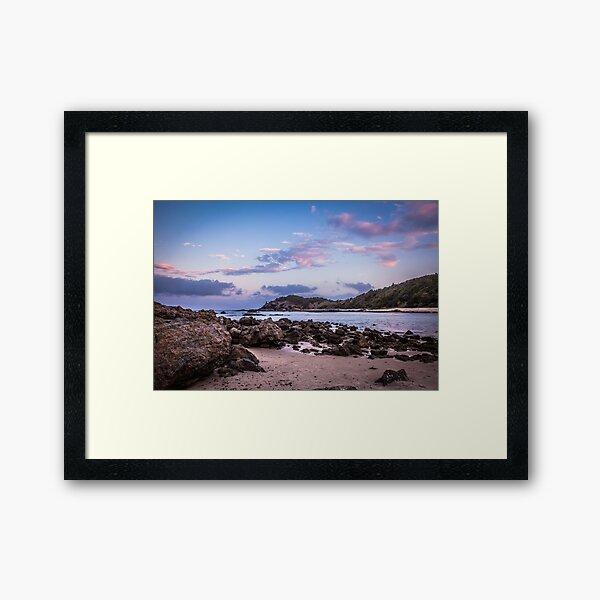 Shelly Beach Sunset Framed Art Print