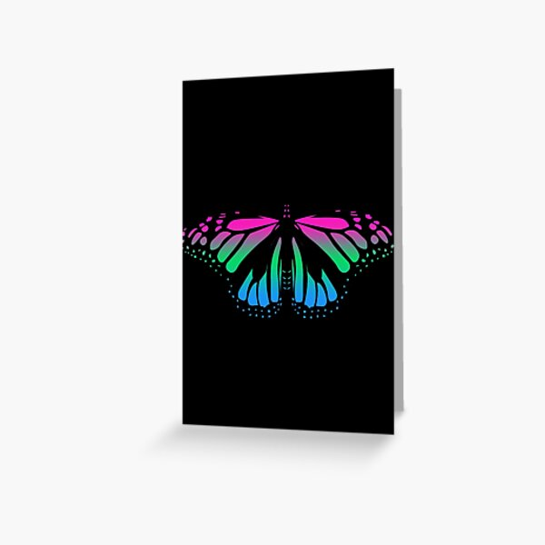 Polysexual Pride Butterfly  Greeting Card