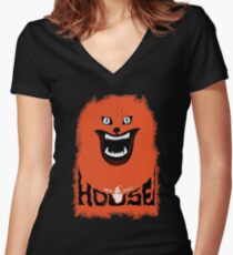 House (hausu) - Logo Women's Fitted V-Neck T-Shirt
