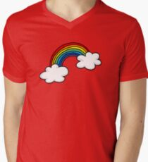Colorful rainbow in white clouds T-Shirt