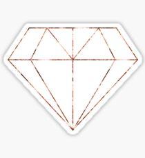 Rose gold diamond Sticker