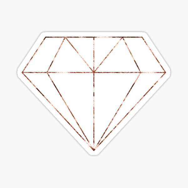 Rose gold diamond Sticker