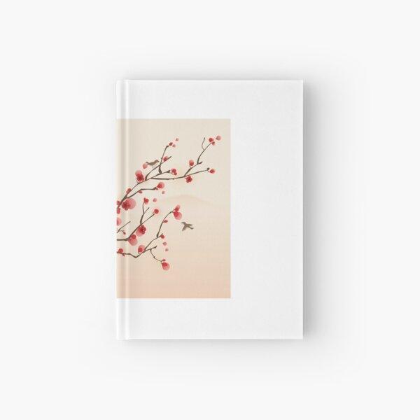 Whimsical Red Cherry Blossom Tree Hardcover Journal