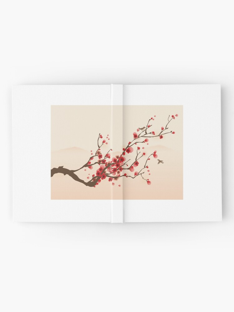 Alternate view of Whimsical Red Cherry Blossom Tree Hardcover Journal