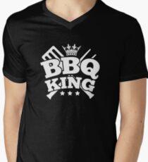 BBQ KING Men's V-Neck T-Shirt