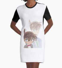 Detective Conan and Shinichi Kudo Graphic T-Shirt Dress