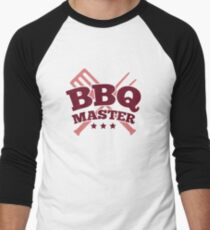 BBQ MASTER Men's Baseball ¾ T-Shirt