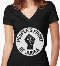 peoples front of judea Women's Fitted V-Neck T-Shirt