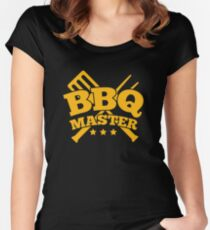 BBQ MASTER Women's Fitted Scoop T-Shirt