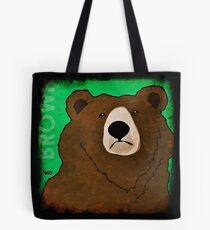 Brown Bear (Rustic) Tote Bag